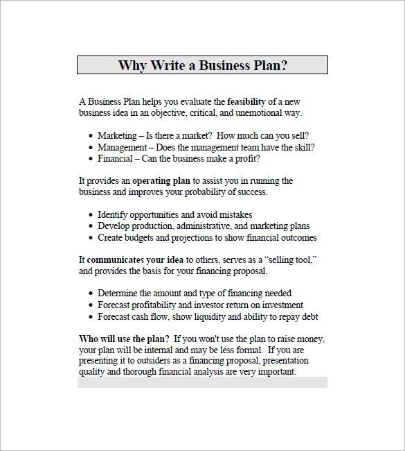 Simple Business Plan Template Word | Business Plan Template