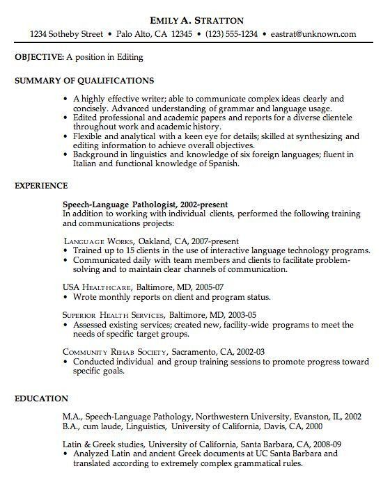 Good Resumes Examples. Professional Resume Examples, Formats And ...