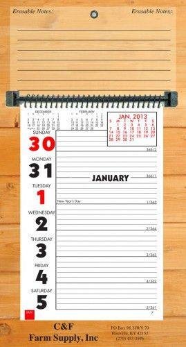 2018 Erasable Weekly Memo Calendar: Calendar Company