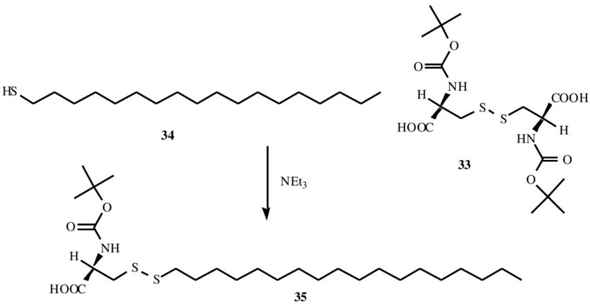 An example of disulfide exchange for synthesis of unsymmetrical ...