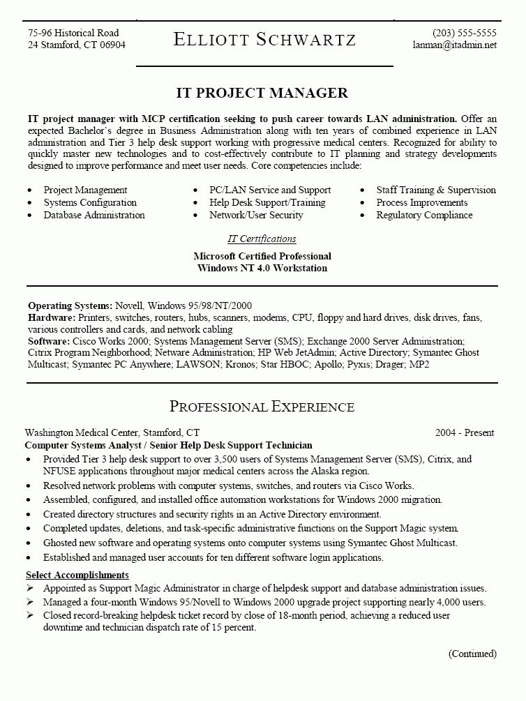 Download Project Administration Sample Resume ...