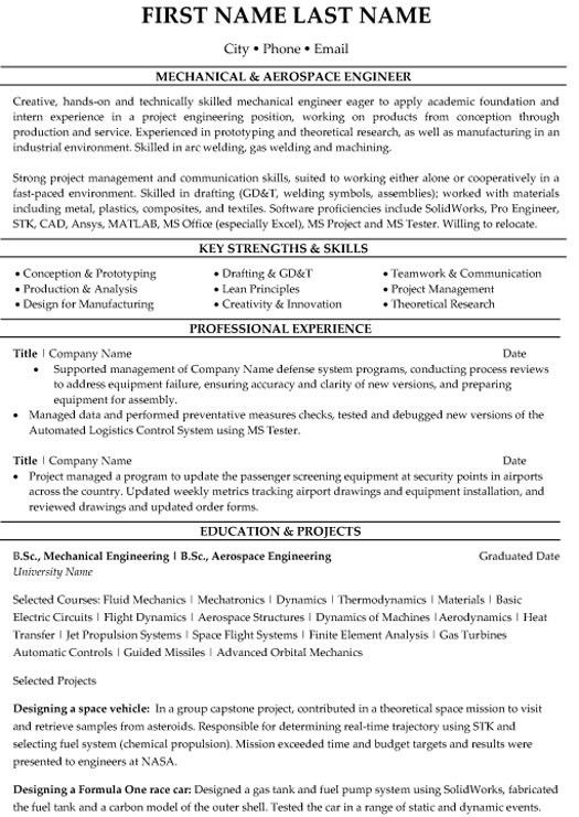 Aerospace Engineer Cover Letter] Aerospace Engineer Cover Letter .