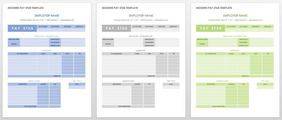 Free Pay Stub Templates | | Smartsheet