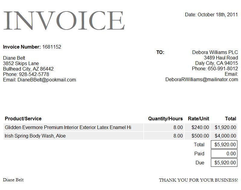 Paid Invoice Template Word | invoice example