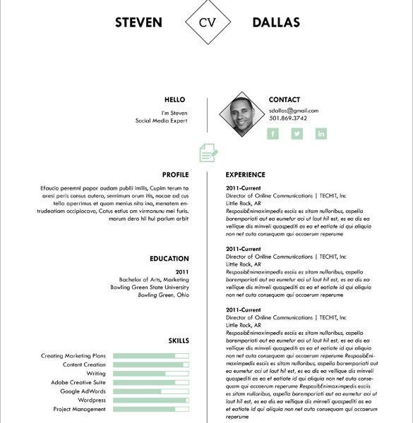 one page sample resume