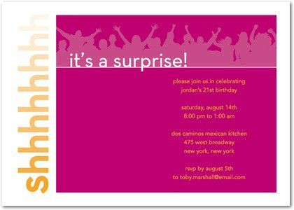 Amazing Surprise Birthday Party Invitation Wording | THERUNTIME.COM