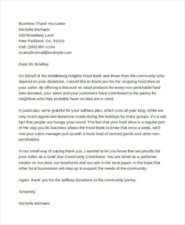 38+ Thank You Letter Example Templates | Free & Premium Templates