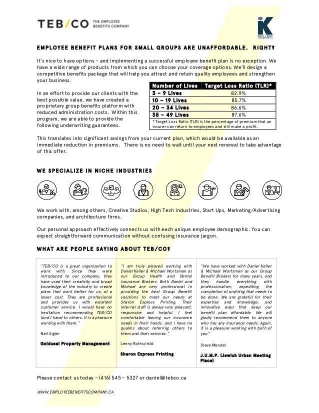 New Approach to Employee Benefits - Info Sheet