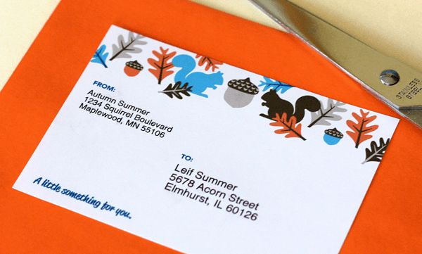 squirrel mailing labels | going home to roost
