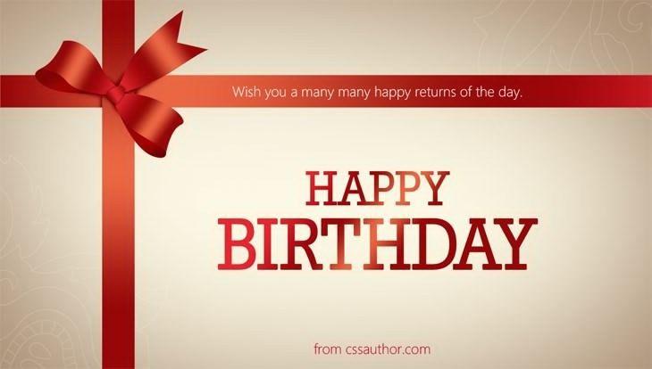Card Invitation Design Ideas: Birthday Greeting Cards Cssauthor ...