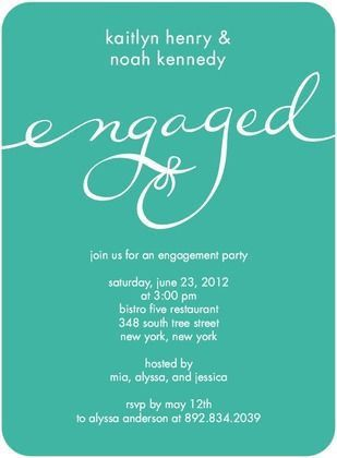 40 best Engagement party invitations images on Pinterest ...