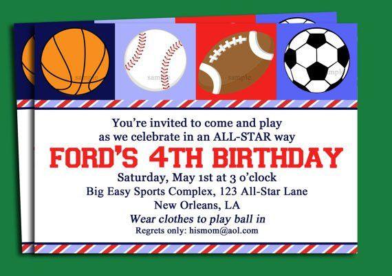 Blank Free Printable Birthday Invitations For Boys | Drevio ...