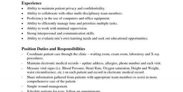 Medical Assistant Duties For Resume Sample Medical Assistant ...