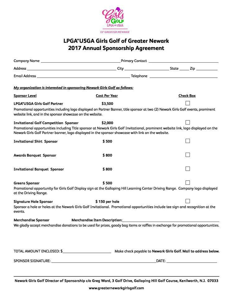 Greater Newark Girls Golf | Agreement Form