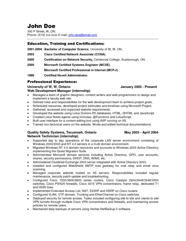 It Network Administrator Cover Letter