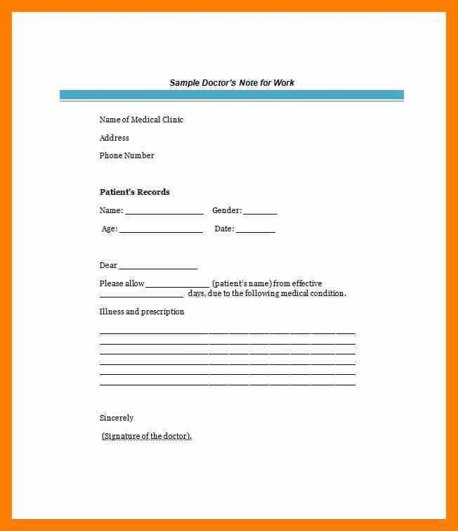 5+ fake doctor note template | janitor resume