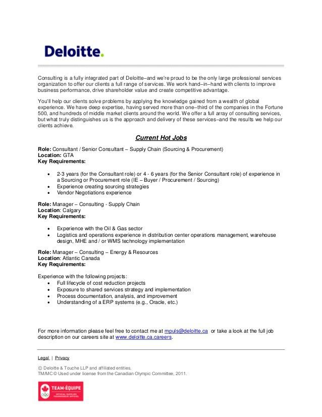 Deloitte canada strategy & operations - hot jobs