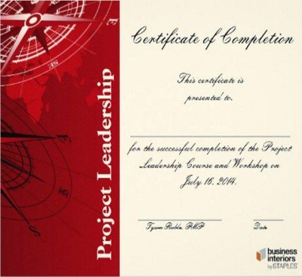 Leadership Certificate Template - 7+ Free Word, PDF, PSD Format ...