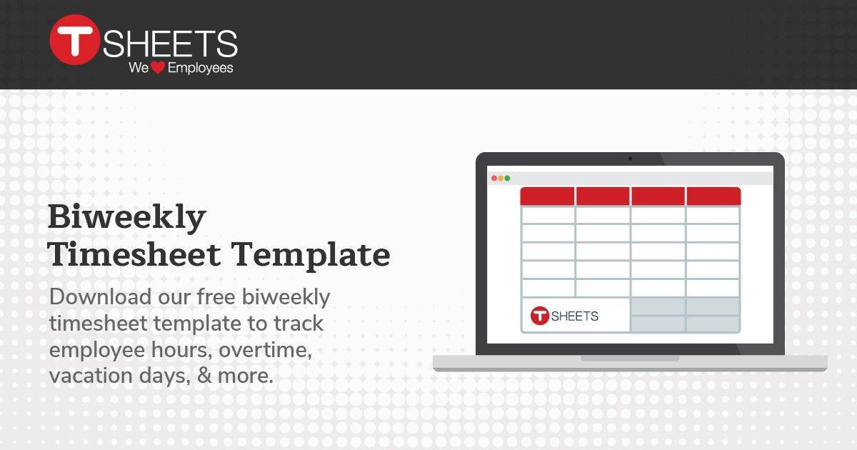 Bi-weekly Timesheet Template - Semi-Monthly Timesheet in Excel