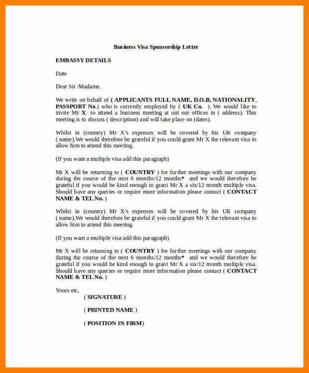 8+ sponsorship letter for visa | sephora resume