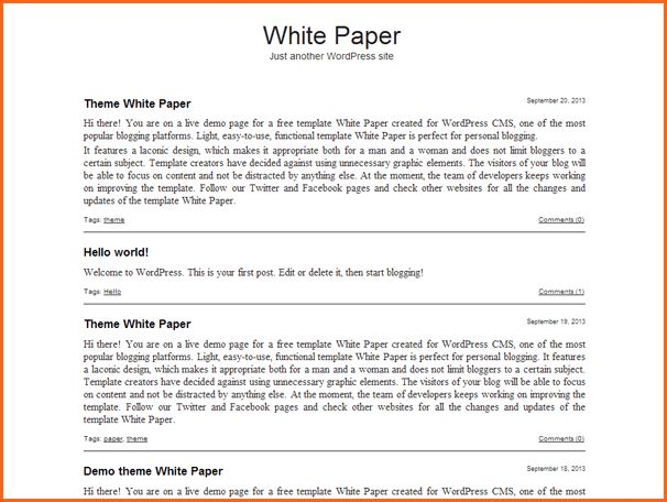 8+ white paper templates word - Budget Template Letter