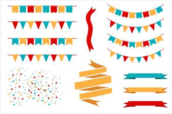 Pennant Banner Template – 24+ Free PSD, AI, Vector EPS ...