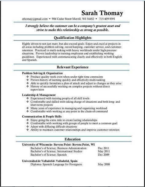 11 best Resume sample images on Pinterest | Job resume, Sample ...