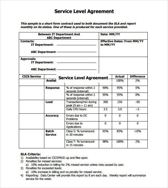 Sample Master Service Agreement. Service Agreement Template 41 50+ .