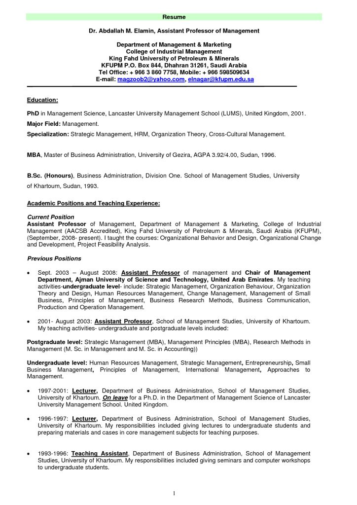 Professor Resume 22 - uxhandy.com