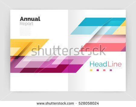 Abstract Circles Annual Report Covers Modern Stock Vector ...