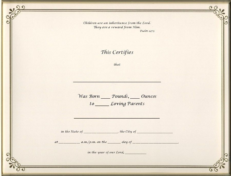 8 Best Images of Birth Certificate Blank Forms - Blank Birth ...