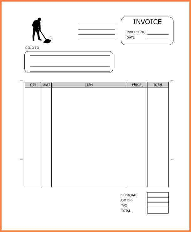 11+ cleaning invoice template word | Invoice Template