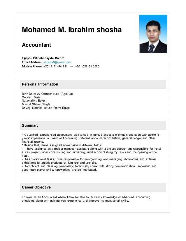 mohamed shosha - accountant resume +2