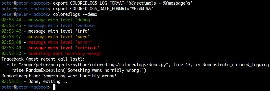 coloredlogs: Colored terminal output for Python's logging module ...