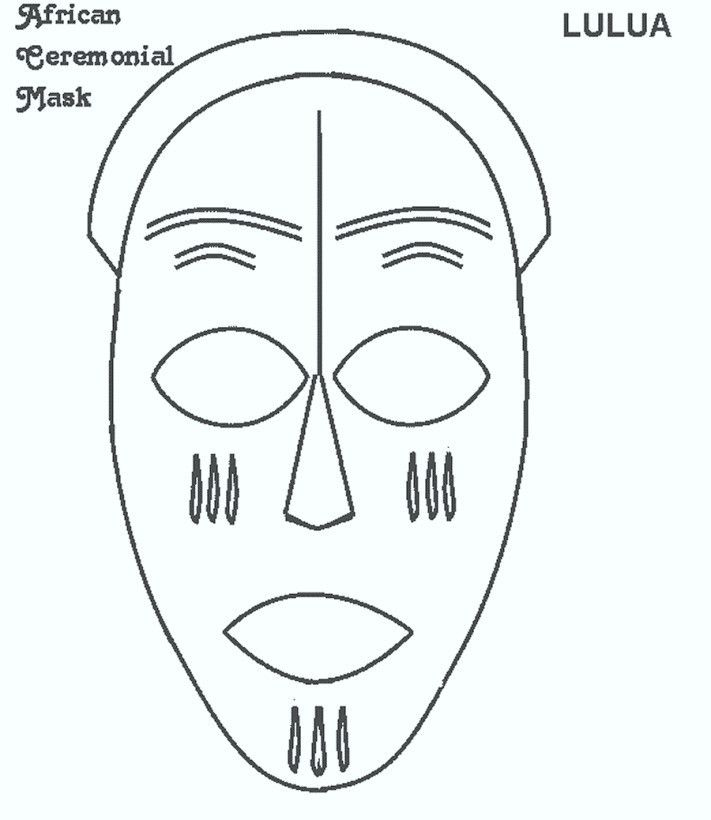 Free Printable African Mask Templates - Template Update234.com ...