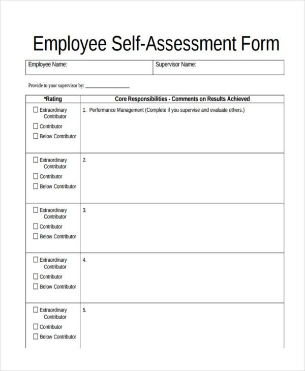 47+ Assessment Form Examples | Free & Premium Templates