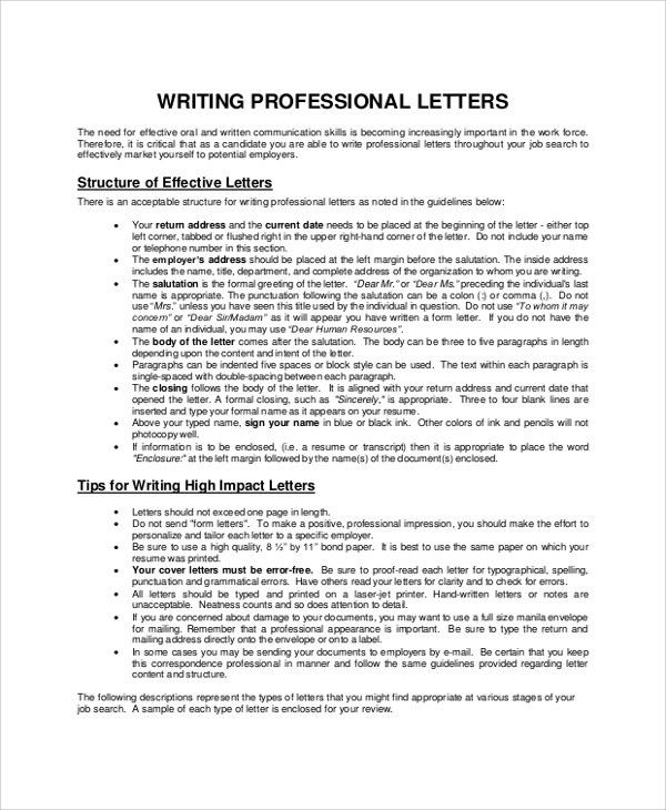 Sample Letter Writing - 7+ Documents in PDF, Word
