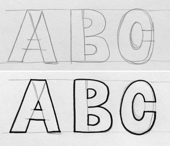 Hand lettering styles: Block lettering tutorial | Hello Brio Studio