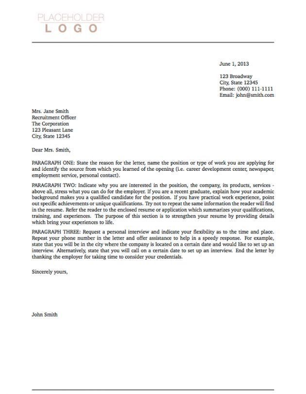 Example Resume Cover Letter Template. Cover Letter Resume Cover ...