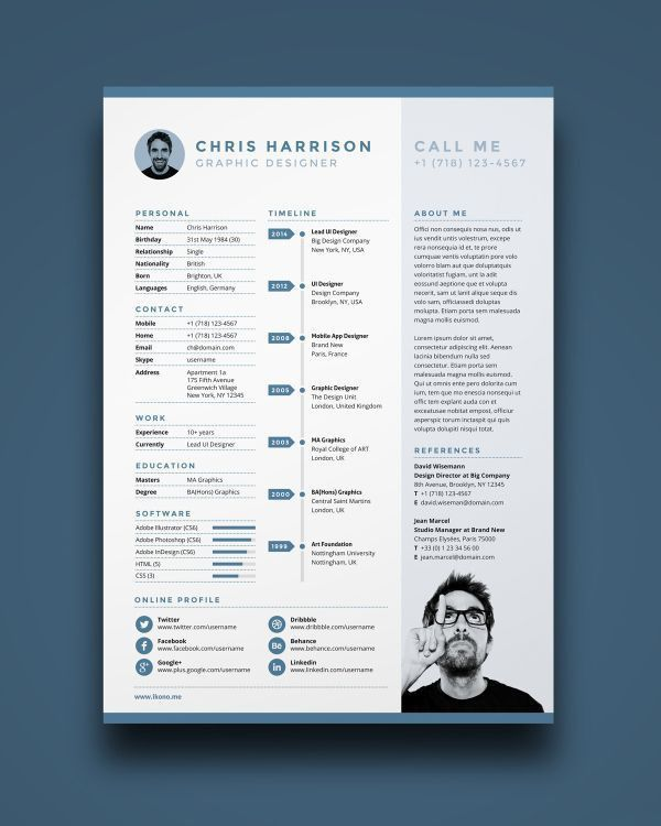 Best 25+ Template cv ideas on Pinterest | Design CV, Curriculum ...