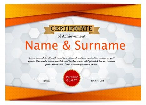 Achievement certificate design classic style in blue vectors stock ...