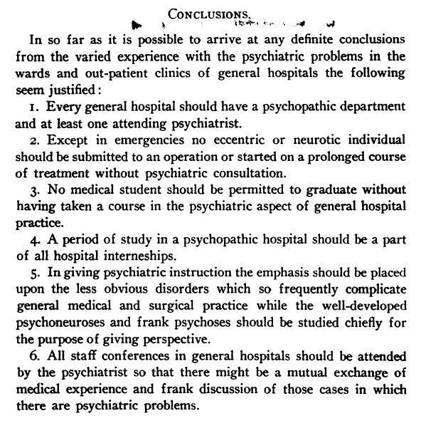 What is the Role of the Psychiatrist in the General Hospital? A ...
