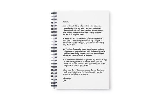 Frustrated With Your Job? Write A Resignation Letter, But Don't ...