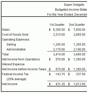 11+ budgeted income statement - LetterHead Template Sample