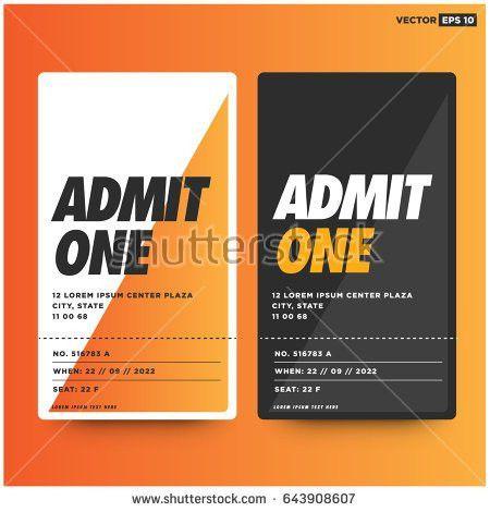 Football Match Event Ticket Card Design Stock Vector 666749995 ...