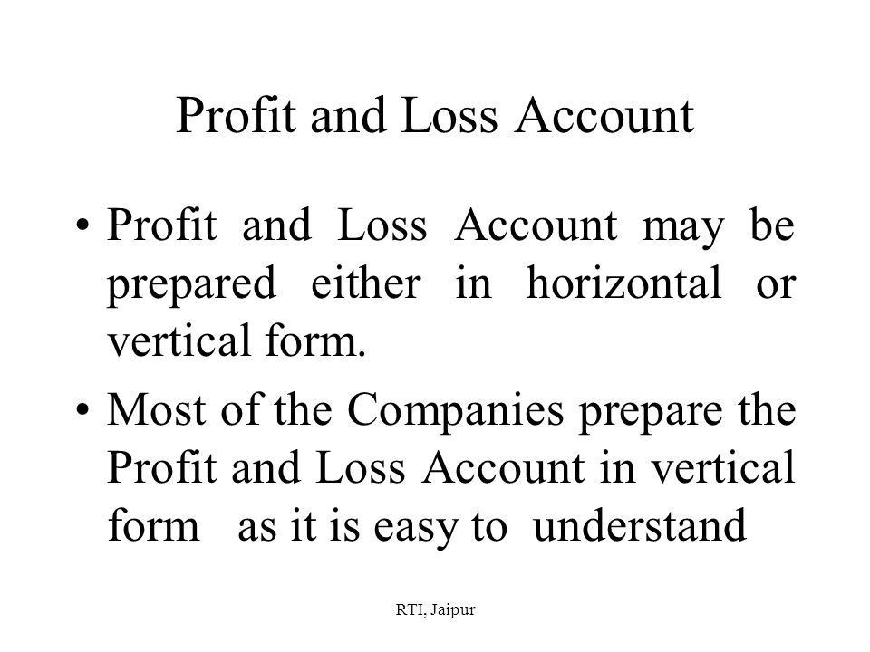 Easy Profit And Loss Form, profit and loss template profit and ...