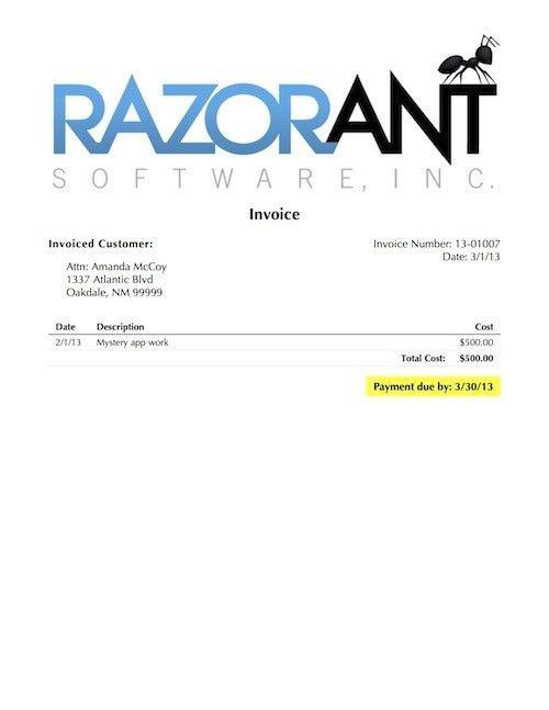 ProfitTrain Invoice Templates