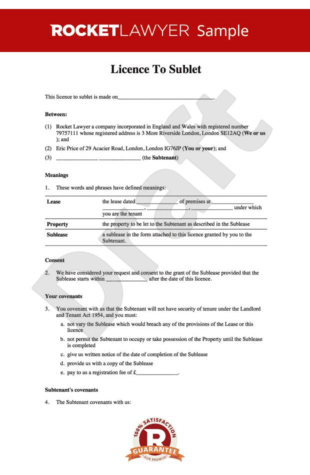 Tenancy Agreement Uk Template. simple lease agreement template uk ...