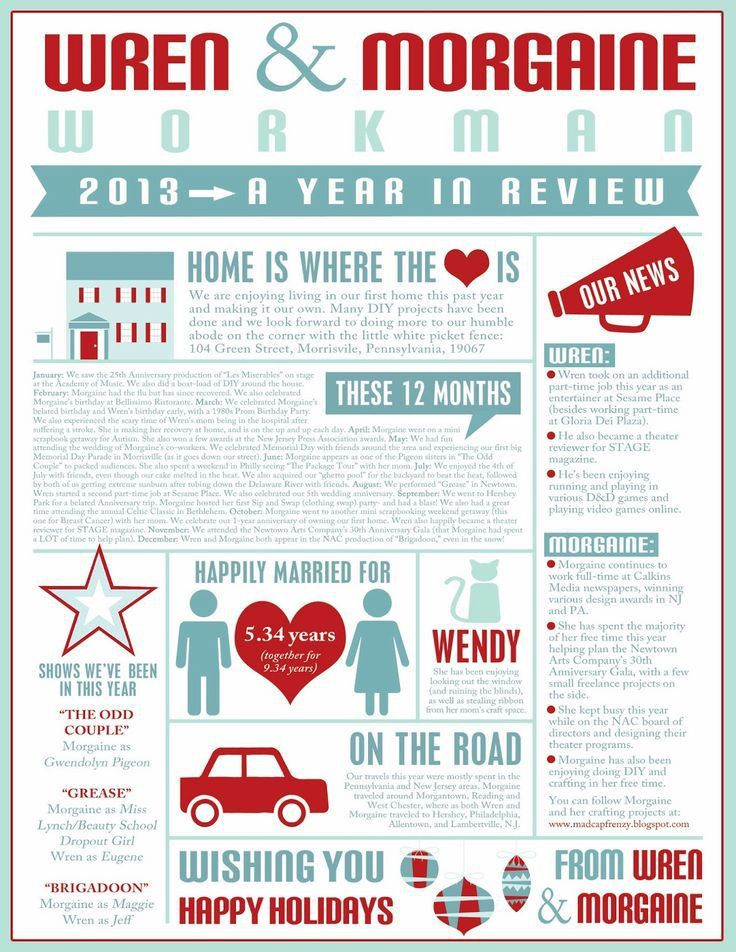 Year in Review Family Photo Christmas Cards - Infographic ...