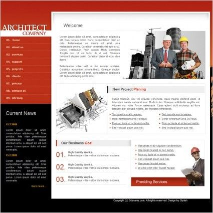 Architect Company Template Free website templates in css, html, js ...